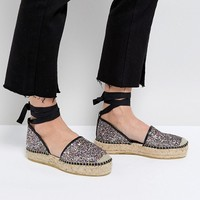 Free People Glitter Espadrilles at asos.com