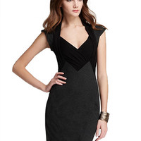 Black V Neck Sleeveless Mini Dress