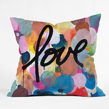 Kent Youngstrom i love color Outdoor Throw Pillow