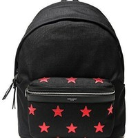 Wiberlux Saint Laurent Men's Red Star Patch Detail Backpack