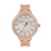 BEDAZZLED BETSEY ROSEGOLD WATCH: Betsey Johnson