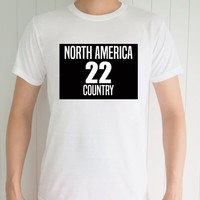 North America 22  , Funny T-Shirt, Quote T-Shirt, Unique, Unisex T-Shirt,  T-Shirt sayings, Tumblr T-Shirt, Gifts Graphic for Him and Her