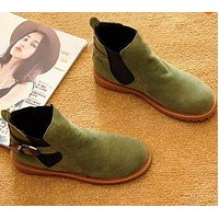 Suede Leather Fashion Ankle  Boots Casual