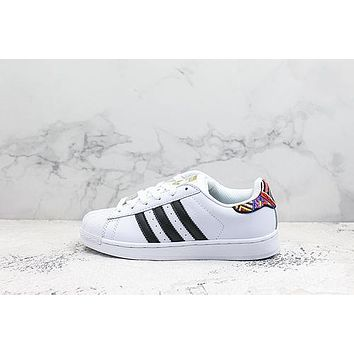 Adidas Superstar White Black Multi Sneakers