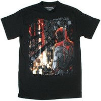 The Amazing Spider-Man Arachnid Abilities Graphic Glow In The Dark Mens Shirt