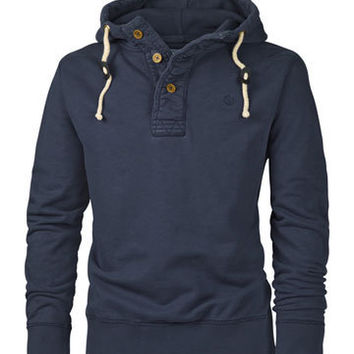 Rossmore Button Neck Hoody at Fat Face