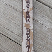 US Marine Brother Lanyard, Military, Tan Marpat, Embroidered, Armed Forces