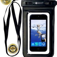 Kobert Waterproof Case - Dry Bag For iPhone 6s, 6, 6 Plus, 5s, Samsung Galaxy s6, s6 Edge, s5, s4, Note 4, Every Cell Phone - Lanyard + Stylus