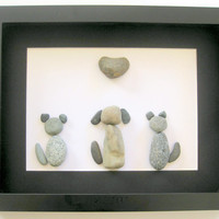 Personalized Animal Lover Gifts - Animal Themed Art - Pebble Art