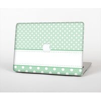 """The Vintage Light Green Polka Dot With White Strip copy Skin Set for the Apple MacBook Pro 13""""   (A1278)"""