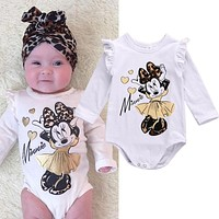 Minnie Long Sleeve Cotton Bodysuit