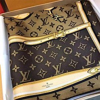 LV Louis Vuitton Women Men Silk Smooth Scarf