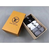 LV Woman Men Cotton invisible socks