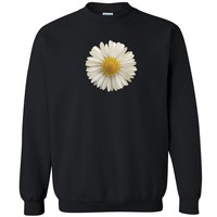 "Zexpa Apparelâ""¢ 3D Daisy Flower Unisex Crewneck High quality 3D look Sweatshirt"