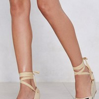 It's All Stripe For Some Espadrille Wedge