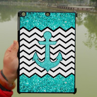 Glitter Mint Chevron anchor iPad Case,Black white Chevron iPad mini Case,iPad Air Case,iPad 3 Case,iPad 4 Case,ipad case,ipad cover, ipad mini cover ipad air,iPad 2/3/4-066