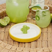 TWO'S COMPANY CACTUS COCKTAIL SALT RIMMER DISH (HAND WASH)