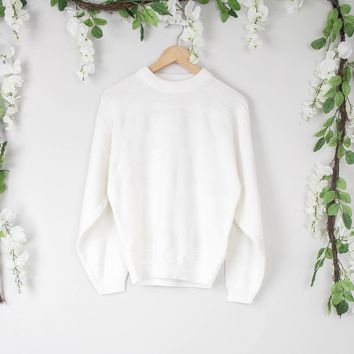 Vintage White Knit Sweater