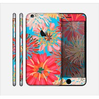 The Brightly Colored Watercolor Flowers Skin for the Apple iPhone 6 Plus