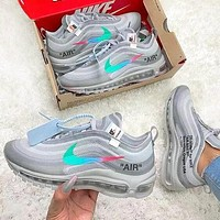 OFF-White x Nike Air Max 97 High Quality Men Air Cushion Running Sport Shoes Sneakers