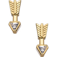 Roman Luxe Gold and Crystal Arrow Drop Earrings - Max & Chloe