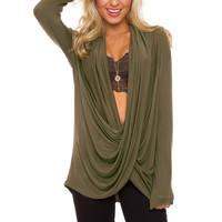 Cozy Up Top - Olive