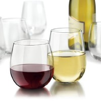 Libbey Vina Stemless 12-Piece Wine Glasses Set, Clear