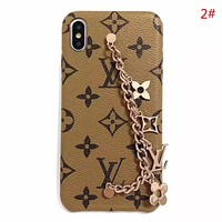LV Louis Vuitton Fashion New Monogram Chain Women Phone Case Protective Cover 2#