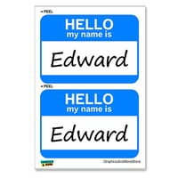 Edward Hello My Name Is - Sheet of 2 Stickers