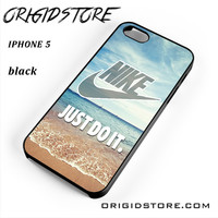 Nike Just Do It Blue Ocean Beach For Iphone 5 Iphone 5S Case UY
