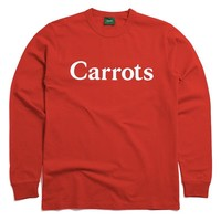 Carrots Wordmark Long Sleeve T-Shirt Red