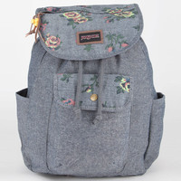 Jansport Break Town Backpack Coral Sparkle/Yellow Glow/Floral Chambray One Size For Women 20568422401
