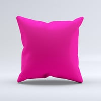 Solid Pink V2  Ink-Fuzed Decorative Throw Pillow