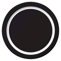 "Spritz™ Snack Plates Black 7"" 10 Ct"