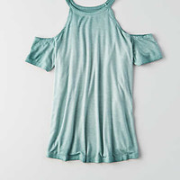 AEO Soft & Sexy Cold Shoulder T-Shirt , Teal