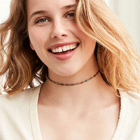 Fiona Beaded Charm Choker Necklace   Urban Outfitters
