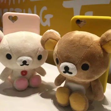3D Cartoon Bear Plush Doll Toy Candy Soft Back Cover Case For iPhone 6/6S 4.7 inch