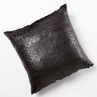Jennifer Lopez bedding collection Desert Luxe Faux-Leather Decorative Pillow (Beige/Khaki)