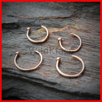 Rose Gold Nose Hoop 18g Nose Hoop Ring 20g Cartilage Earring Tragus Jewelry Helix Piercing Lip Ring Nipple Piercing Conch Earring Daith Ring