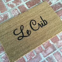 "NEW! ""Le Crib"" Doormat, doormats, rugs, 18x30 outdoor mat, by Shop Josie B"