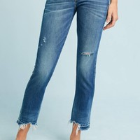 AMO Babe High-Rise Straight Cropped Jeans