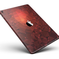 "Red Orange Geometric V13 Full Body Skin for the iPad Pro (12.9"" or 9.7"" available)"