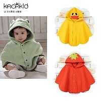 Baby girl's & boy's outer coat Autumn and winter thickened winter cloak * frog * strawberry * duck *cloak 3 design for one size