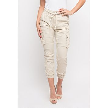 Basic Cropped Colored Cargo Jogger