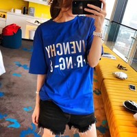 givenchy women casual all match simple letter print short sleeve t shirt top tee