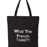 FOREVER 21 French Toast Canvas Tote