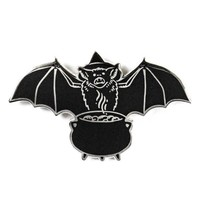 Bat Witch Pin