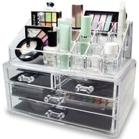 Acrylic Makeup Case Cosmetics Organizer Transparent