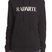 Rodarte 'Radarte' Metallic Foil Hooded Sweatshirt | Nordstrom