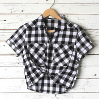 Bridget Plaid Crop Top